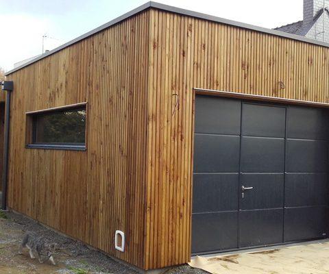 Construction garage bois <br />Aigrefeuille (44)