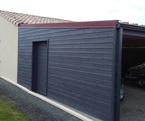 Construction préau bois <br />Boufféré (85)