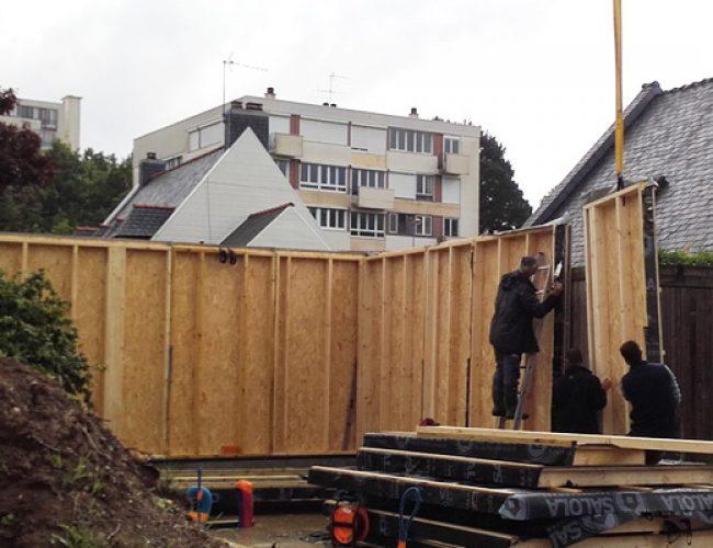 Construction garage bois aigrefeuille 44 cbmr for Construction bois 44